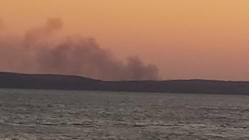 Bozcaada'da orman yangını!