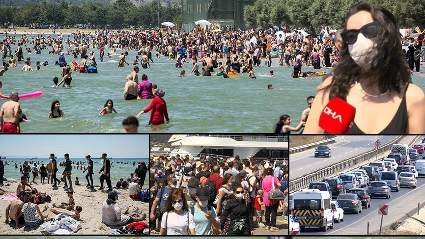 Son dakika! İstanbul sahillerinde akılalmaz görüntüler