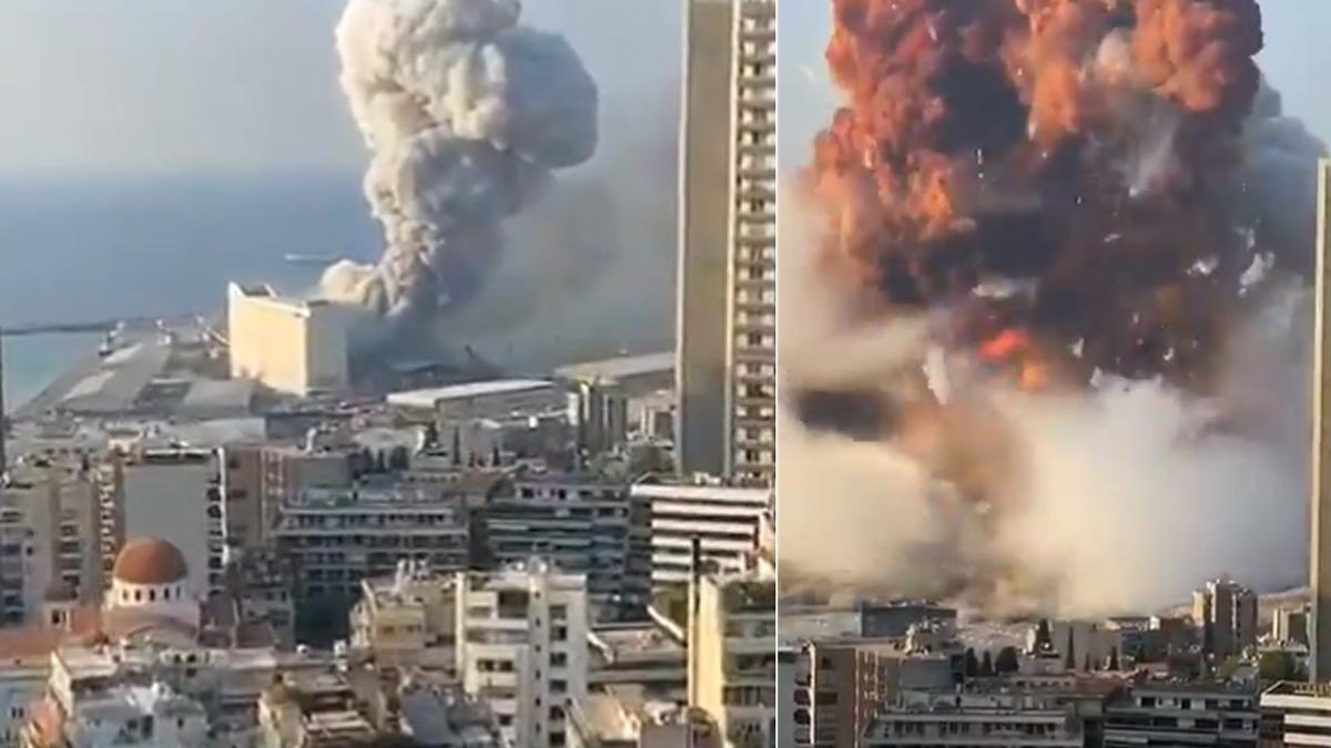 Lübnan'ın başkentinde büyük patlama! Ölü ve yaralılar var