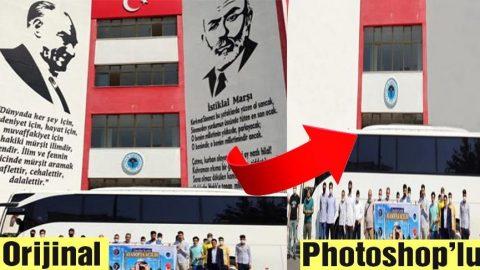 AKP'li vakfın Atatürk ve Mehmet Akif Ersoy hazımsızlığı! Resimlerini photoshop'la sildiler