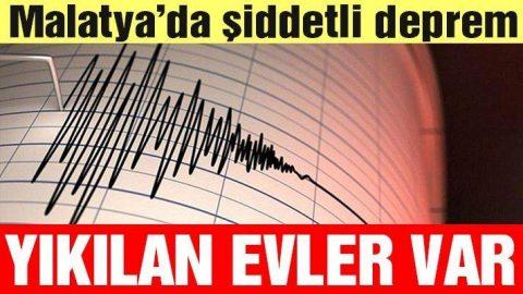 Malatya'da 5.2'lik deprem! Adıyaman'da da hissedildi... (Son depremler)