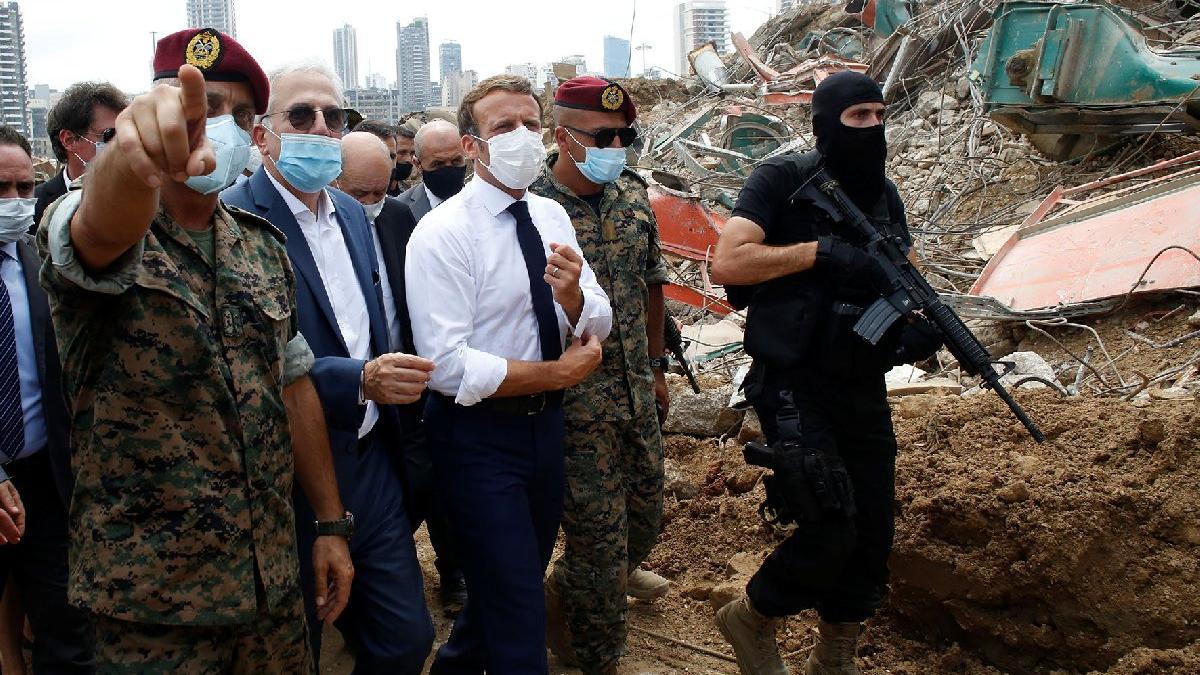 Macron Lübnan'da da rahat durmadı: Biz yapmazsak Türkler yapacak