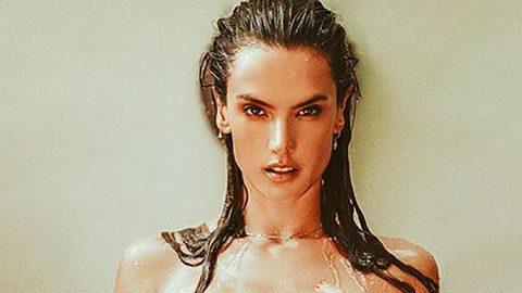 Alessandra'dan üstsüz paylaşım: Tüm dertlerim suya karıştı