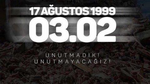 Marmara Depremi'nin yıldönümünde anma törenleri düzenlendi