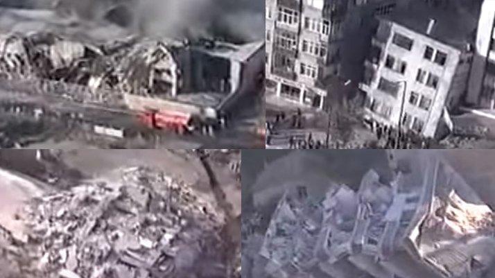 17 Ağustos depreminin 21'inci yılında tüyler ürperten görüntüler