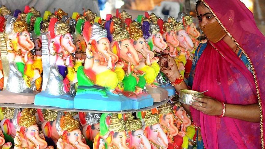 Hintliler, Ganesh Chaturthi Festivali'ne hazırlanıyor