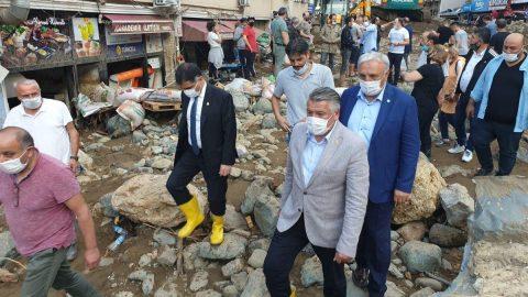 İYİ Parti heyeti felaketin yaşandığı Dereli'de: Acilen afet bölgesi ilan edilmeli