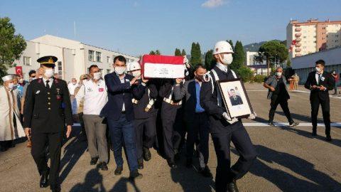 Giresun'daki selde şehit olan askerin cenazesi memleketine uğurlandı