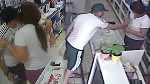 Mağaza çalışanı genç kıza taciz girişimi kamerada