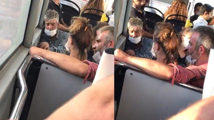 Skandal görüntüler... Kadına şiddet bu kez otobüste...