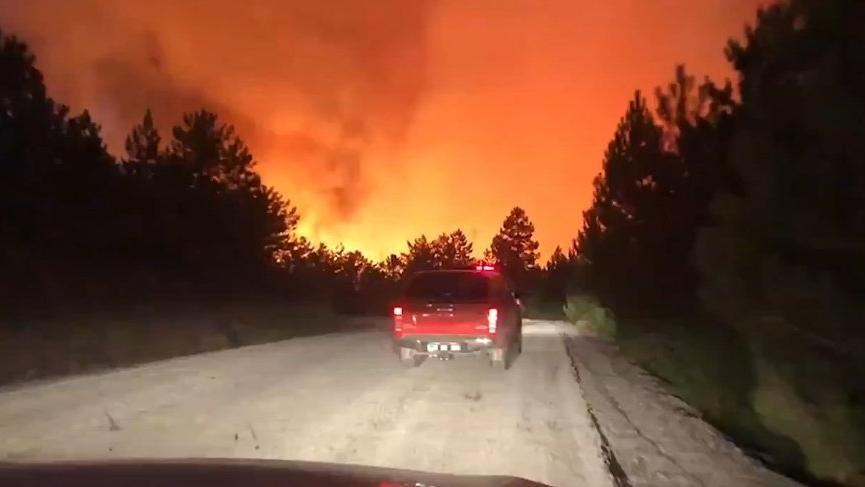 Denizli'deki yangında karşı ateş yakıldı!