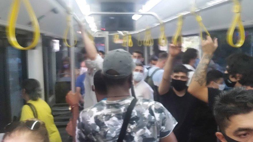Otobüste 'fazla yolcu' tartışması!