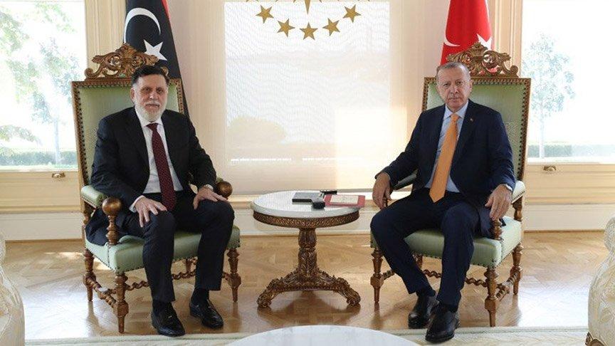 Erdoğan, Libya Başbakanı Fayiz es-Serrac ile görüştü