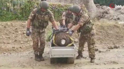İtalya'da 2. Dünya Savaşı'ndan kalma bomba bulundu! 7 bin kişi tahliye edildi