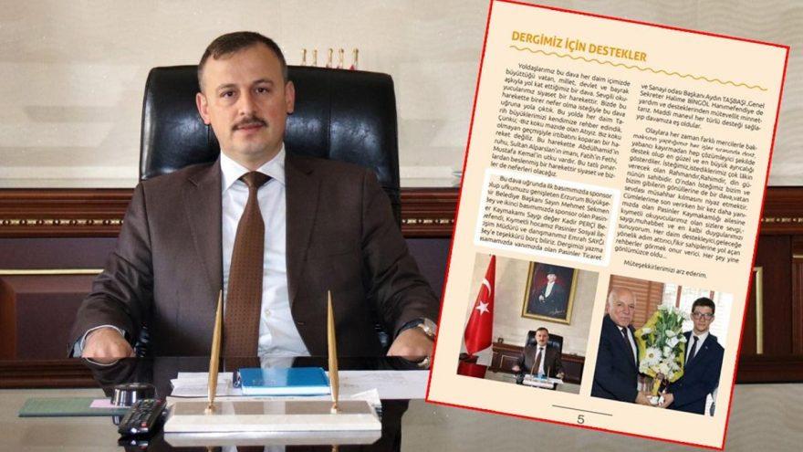 AKP'nin dergisine kaymakam sponsor oldu