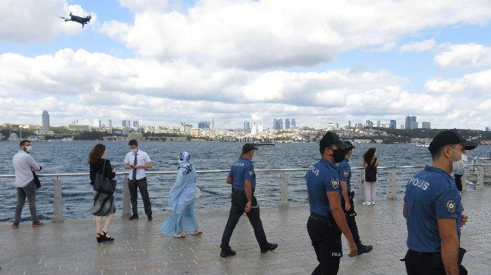 İstanbul'da drone destekli corona denetim