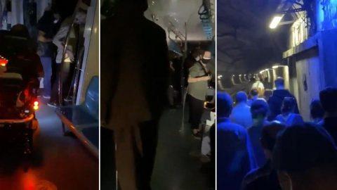 Marmaray yolcuları sitem etti: Karanlıkta havasız kaldık, ne ilgilenen var ne corona önlemi