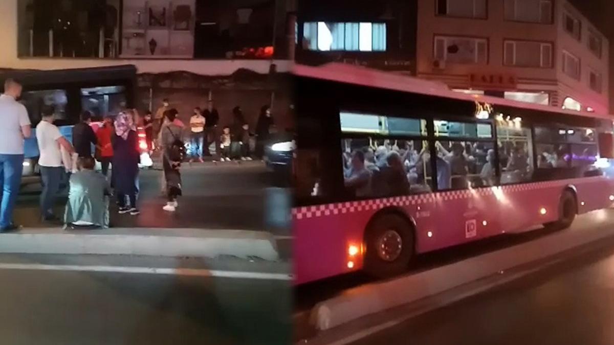 Yasağa uymadılar, yol kesip zorla otobüse binmeye çalıştılar