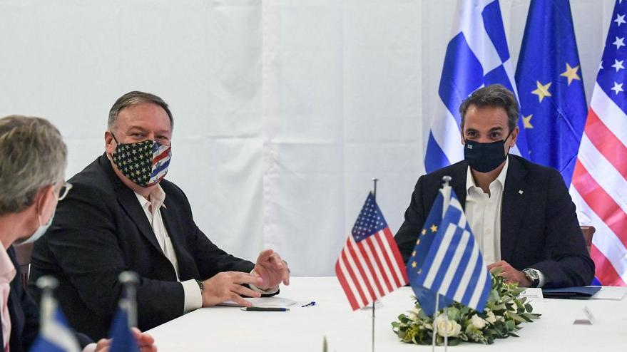 Pompeo Yunanistan'da: Diyalogu destekliyorum