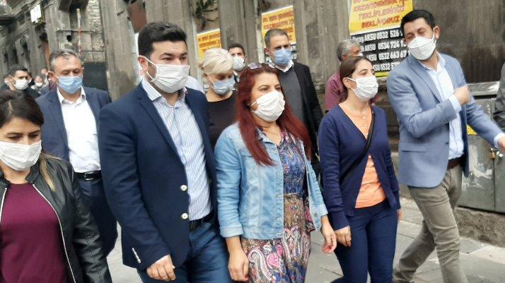 Kayyum protestosunda HDP'li vekillere müdahale