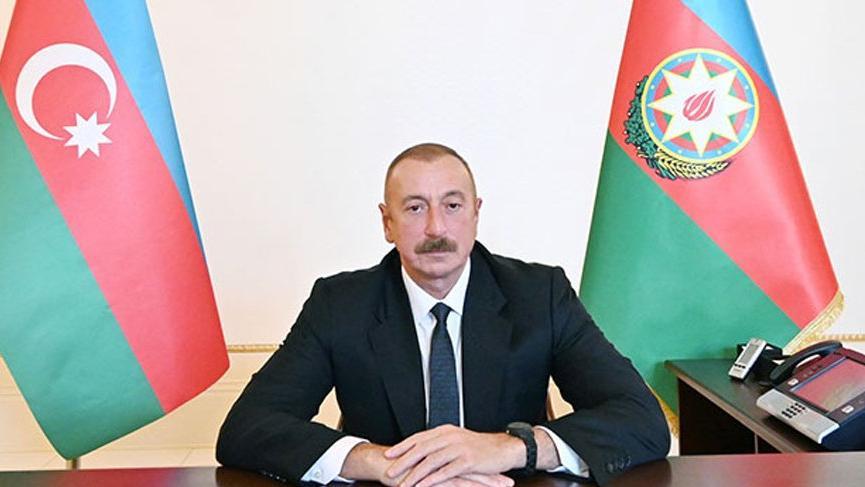 Aliyev duyurdu: Madagiz'de Azerbaycan bayrağı göndere çekildi