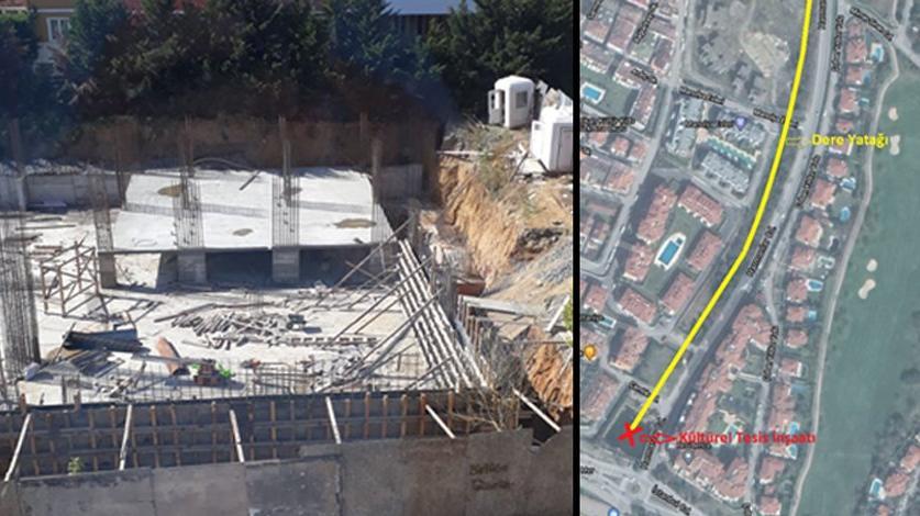 AKP'li belediye dere yatağına cami yapıyor