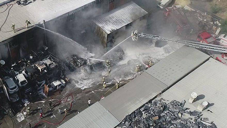 İkitelli'de Atatürk Oto Sanayi Sitesi'nde yangın
