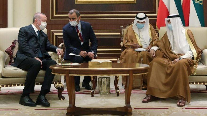 Cumhurbaşkanı Erdoğan'dan Kuveyt Emiri'ne başsağlığı