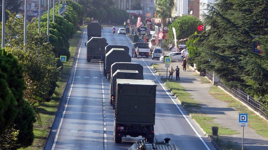 S-400'leri taşıyan ikinci konvoy Sinop'a geçti!