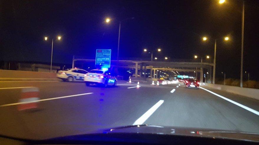 Osmangazi Köprüsü üzerinde trafik yoğunluğu