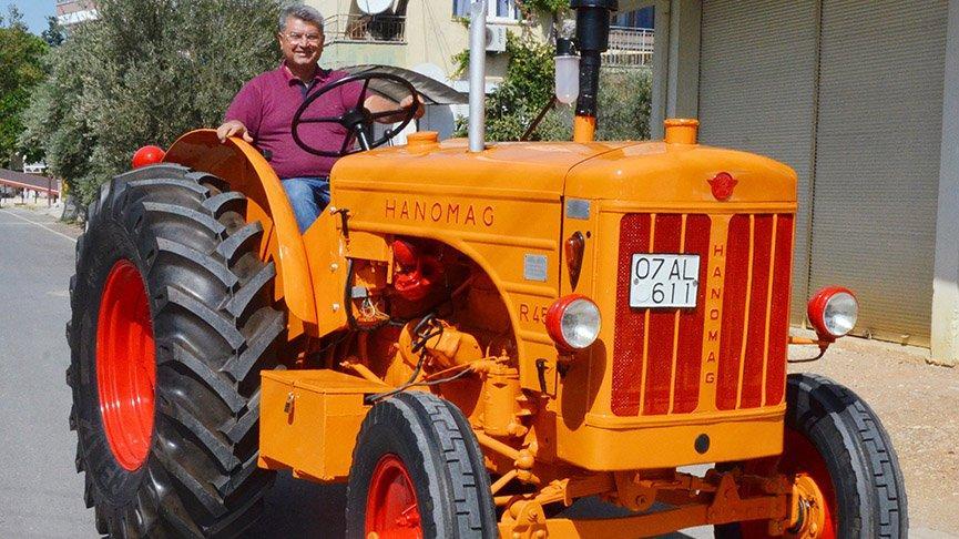66 yıllık traktörü 14 bin TL'ye yeniledi