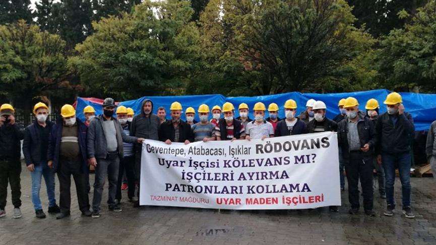 Direnişlerini sürdüren madenciler bakanlık yetkilileri ile görüşecek
