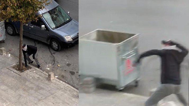 Hırsızlar vatandaşı taşladı