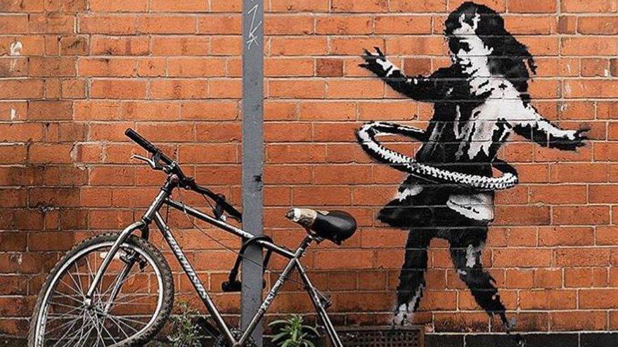 Gizemli duvar resmi Banksy'nin çıktı