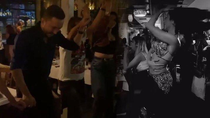 İstanbul'da dansözlü corona eğlencesi
