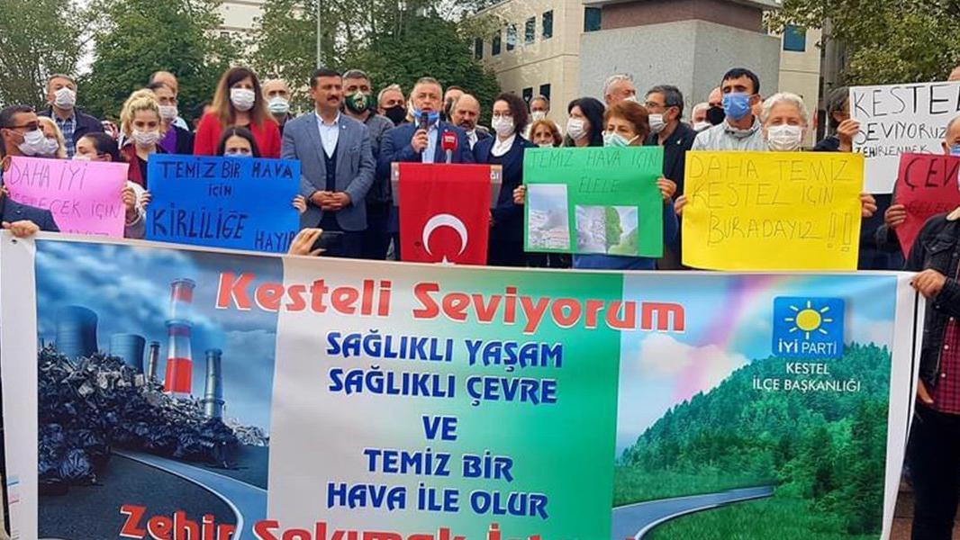 Bursalılar hava kirliliğine isyan etti: Zehir solumak istemiyoruz