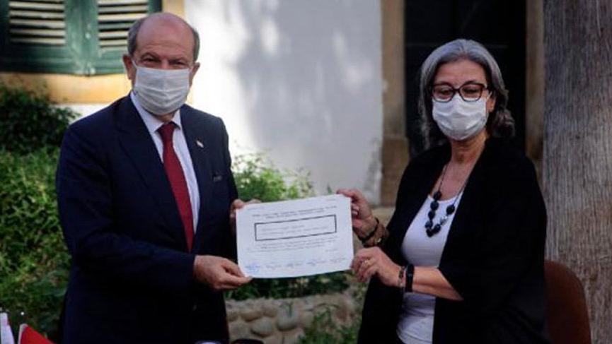 KKTC Cumhurbaşkanı Ersin Tatar mazbatasını aldı