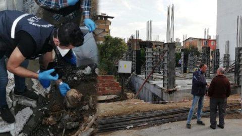 İnşaat alanında üç kafatası ve insan kemikleri bulundu