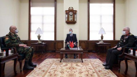 Bakan Akar, Libya Genelkurmay Başkanı'nı kabul etti