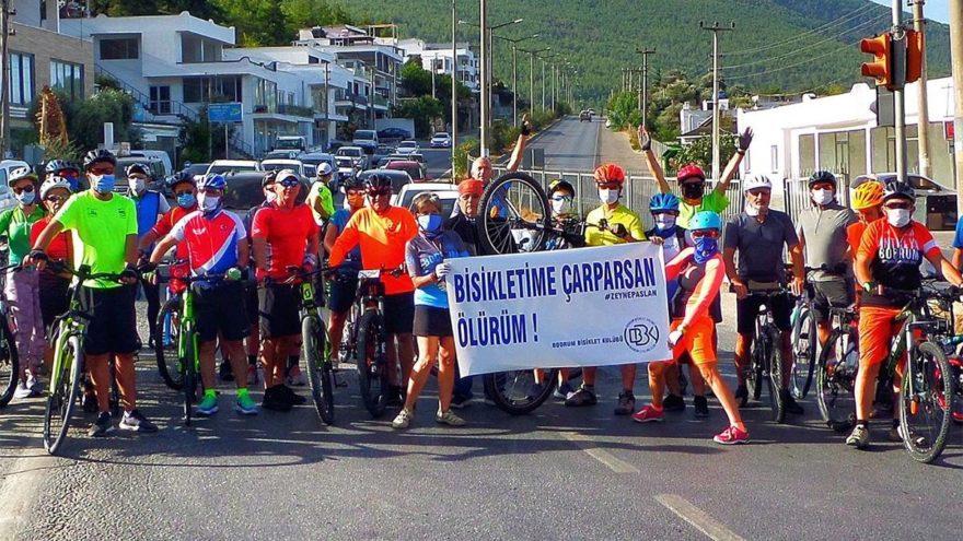 'Bisikletime Çarparsan Ölürüm' eylemi