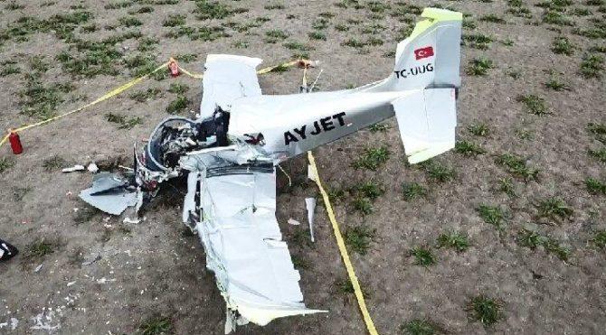 Son dakika… Düşen eğitim uçağının pilotu hayatını kaybetti