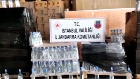 İstanbul'da 2 buçuk ton sahte içki ele geçirildi