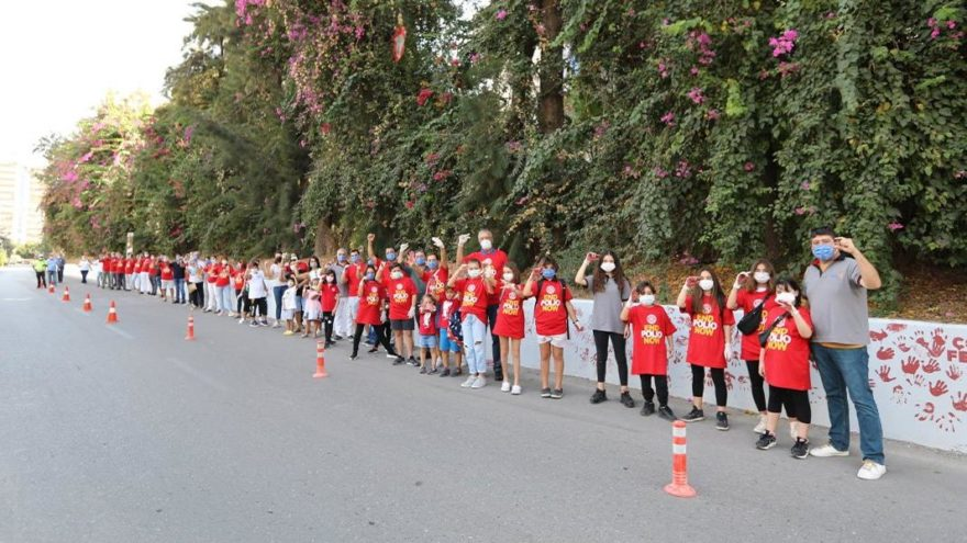 Mersin'de çocuk felcine karşı farkındalık etkinliği