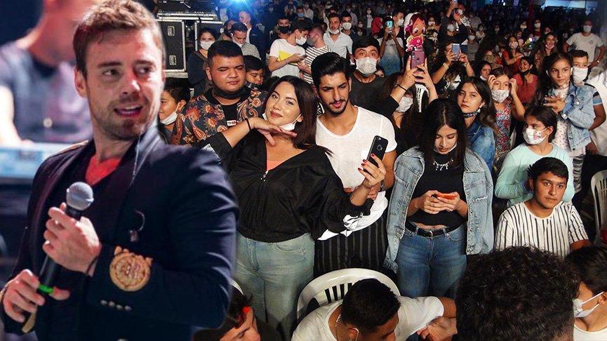 Murat Dalkılıç konserinde corona unutuldu