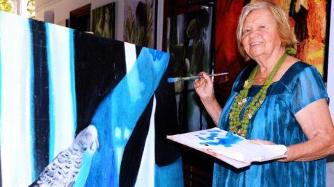 80 yaşındaki ressam Londra ve Paris'te sergi açmaya hazırlanıyor
