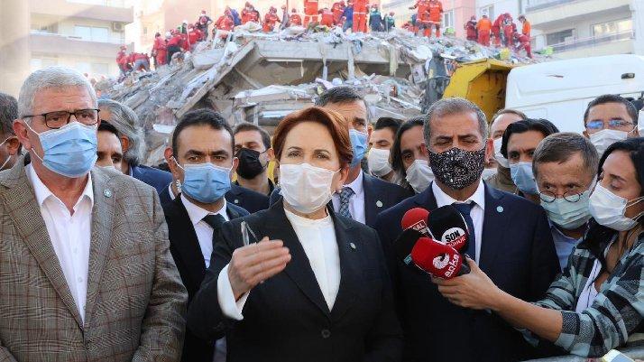 İYİ Parti Genel Başkanı Meral Akşener, deprem bölgesinde