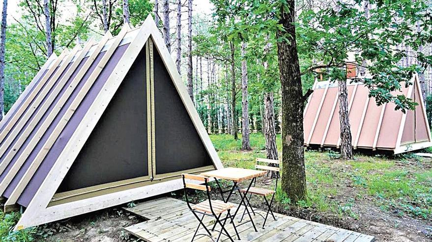 Ormanın içinde 5 yıldızlı kamp
