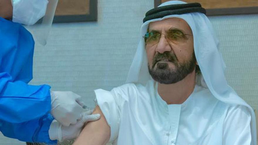 Dubai Emiri El-Maktum, Covid-19 aşısı oldu