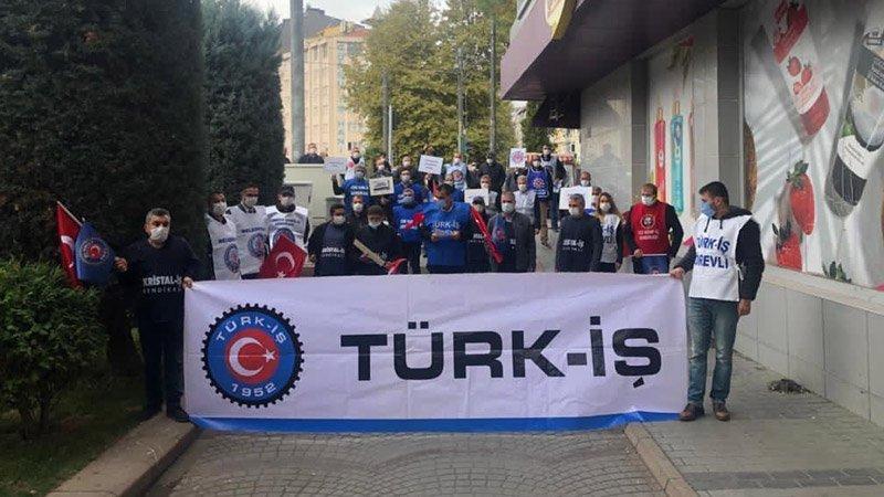 DİSK ve TÜRK-İŞ'ten 'Torba yasaya hayır' eylemi