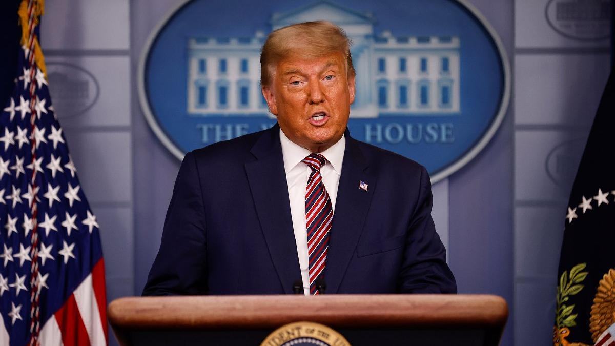 Trump konuşurken yayını kestiler! İddialarını madde madde çürüttüler